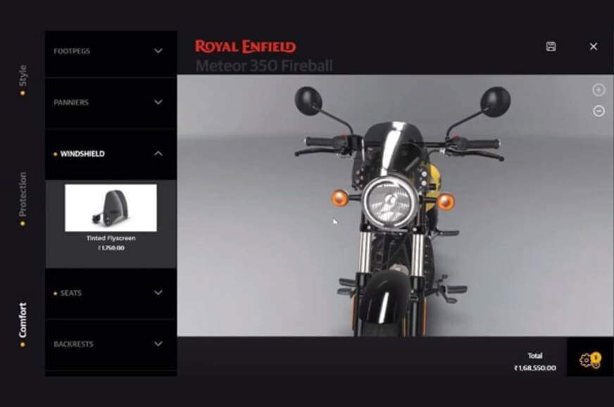 Royal Enfield Meteor 350 Spotted On Website Ahead Of Launch. Price Leaked.