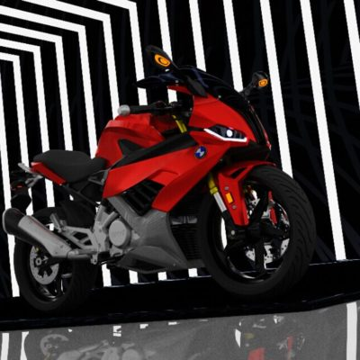 3D Render Of BMW G 310 R With A Fairing. Inspired By BMW S1000 RR-3