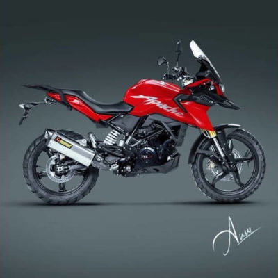 3D Render Of TVS Apache 310 Adventure