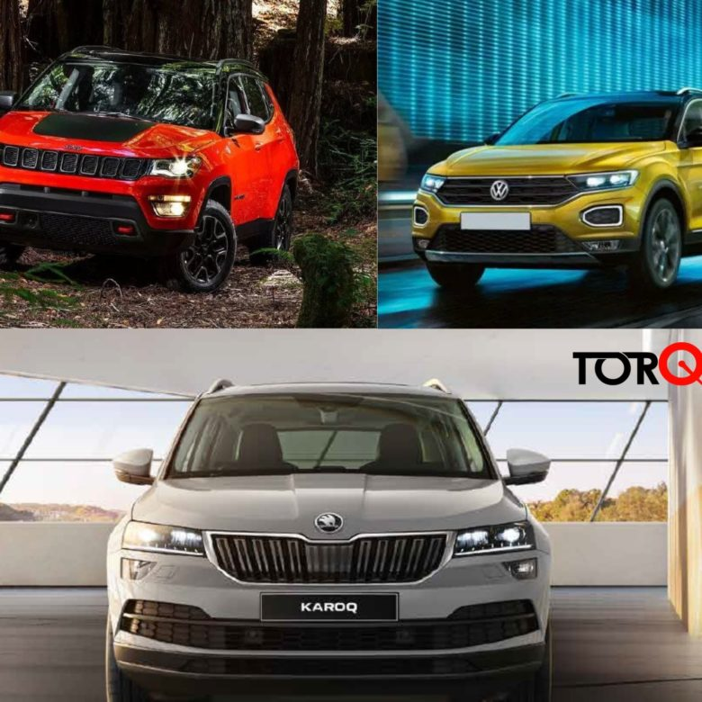 Skoda Karoq vs Volkswagen T-ROC vs Jeep Compass