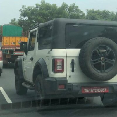 Mahindra Thar spotted with New Colour Shades